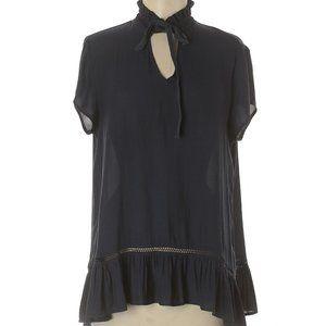 Ro & De Short Sleeve Blouse deep blue